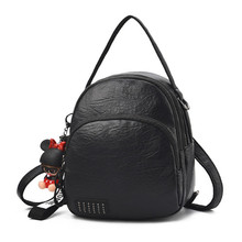 цены Small Backpack Women Fashion Version of the Retro College Wind Female Mini Backpack Travel Shoulder Bag