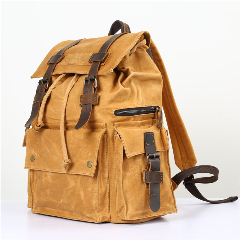 Nesitu High Quality Vintage Yellow Coffee Army Green Grey Canvas Women Men Backpacks 14 Laptop Men Travel Bags #M5358Nesitu High Quality Vintage Yellow Coffee Army Green Grey Canvas Women Men Backpacks 14 Laptop Men Travel Bags #M5358