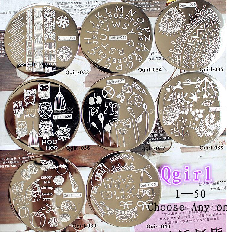 New Year Decorations Nail Stamping Plates Konad Template Christmas ...