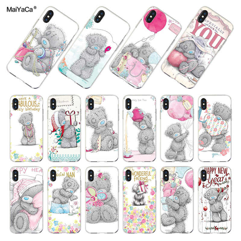 MaiYaCa siliconen telefoon case voor iphone x xs xr case Tatty Teddy Ik Je Beer Telefoon case Voor iphone 4 5 5s 6s 7 8plus 11pro case