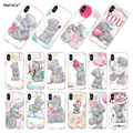 MaiYaCa silicone phone case for iphone x xs xr case Tatty Teddy Me To You Bear Phone case Covers For iPhone 4 5s 6s 7 8plus case