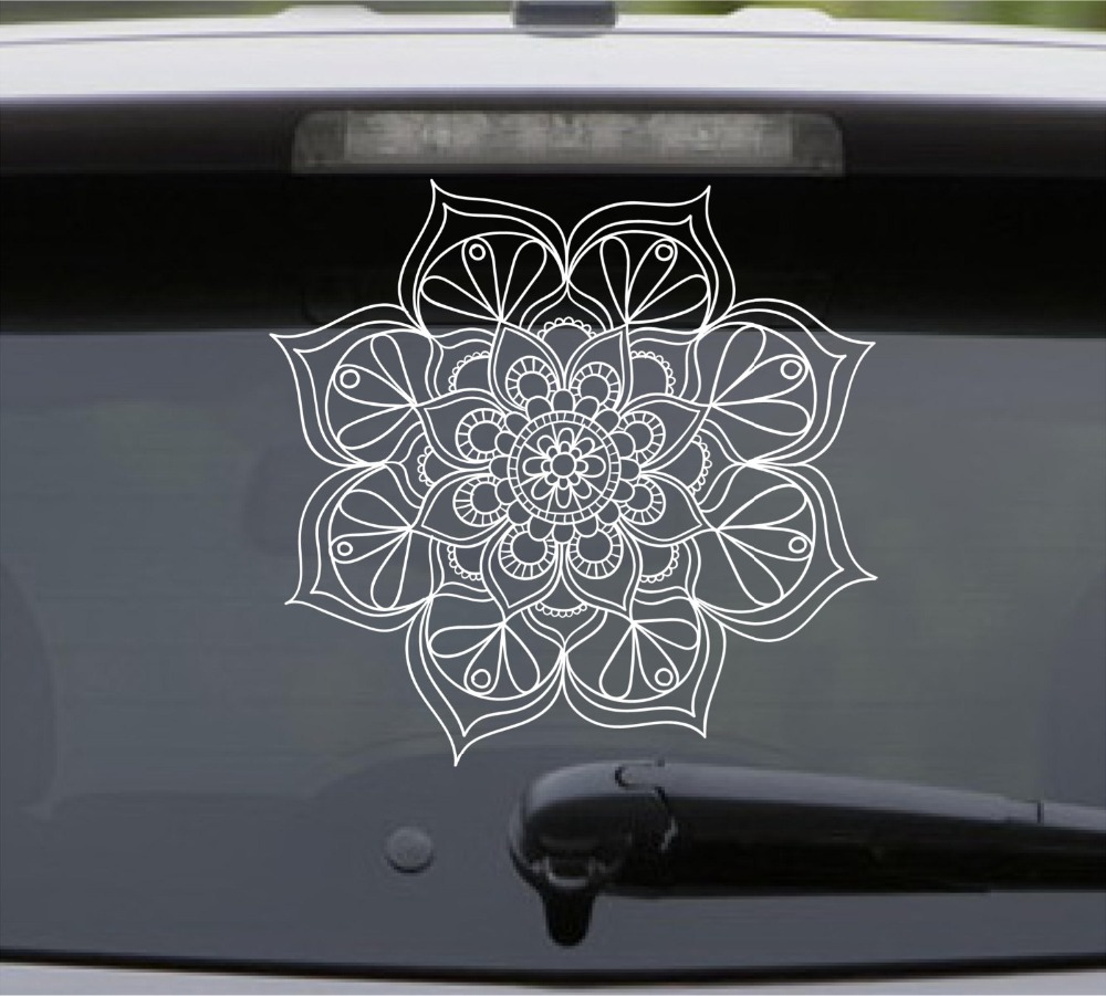 Yoga Mandala Lotus Flower Wall Decal Removable Vinyl Wall