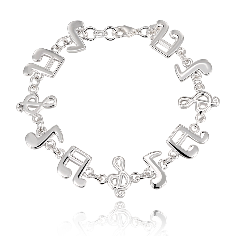 Beautiful Music note Silver plated Braceletss