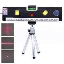 Лазерный уровень 4 в 1 вертикальный горизонт поперечная линия Магнитная измерительная лента выравниватель лазерные маркировочные линии точные оптические инструменты