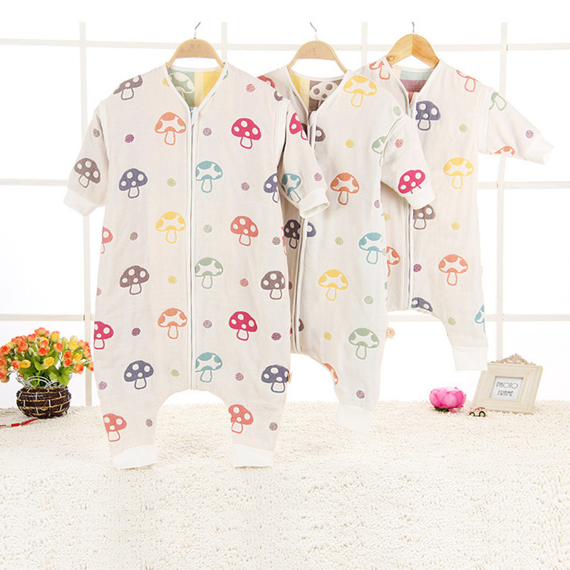 Baby Blanket Sleep Bag Detachable Sleeve Sleepwear Cute Baby Boy Girl Clothing Pajamas Thickened Gauze Children Cartoon Homewear