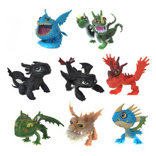 ФОТО Full Set 8 Pcs Juguetes How To Train Your Dragon 2 Action Figures Night Fury Toothless figurines kids toys toothless dragon toys
