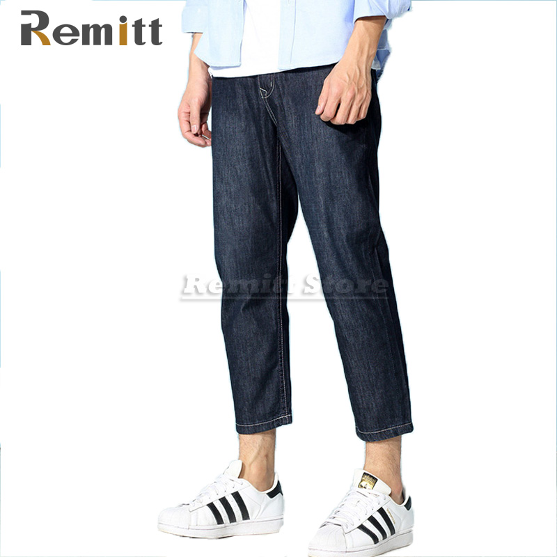 2017 New Men Brand Clothing Male Ankle Length Fashion Designer Jeans Plus Size 28 38 40