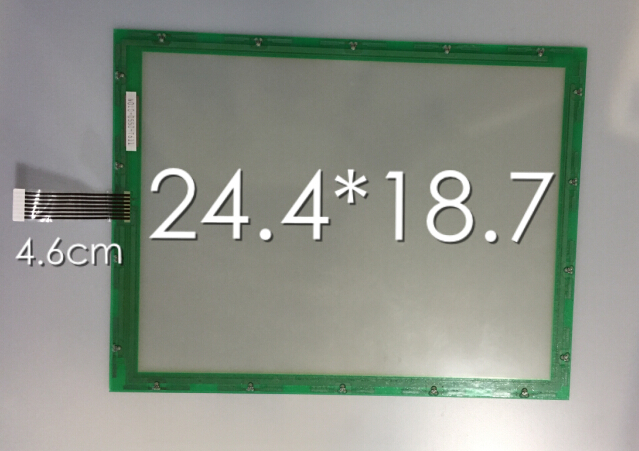 225mm*173mm New 8 inch 9 inch 10.4 inch 4 wire N010-0550-T611 resistance touch screen 225*173mm new 10 4 inch 225mm 173mm touch screen panels for amt9509 industrial medical atm touch screen digitizer panel free shipping