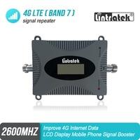 Lintratek novo display lcd 4g sinal impulsionador banda 7 4g repetidor celular 70db amplificador de sinal 4g lte 2600mhz s5j2