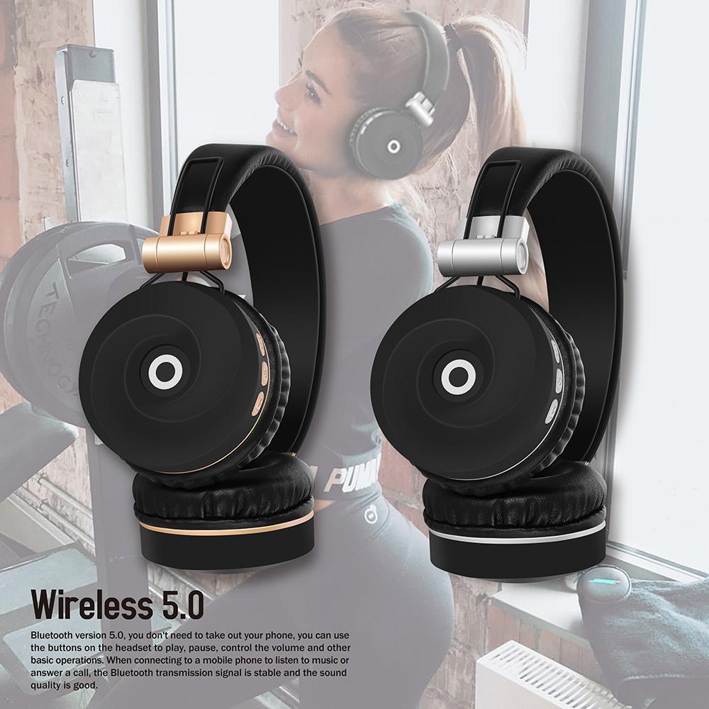 BEESCLOVER EK-MH9 Wireless Headphones Bluetooth 5.0 Headset Foldable Stereo Gaming Earphones For IPad Mobile Phone D35