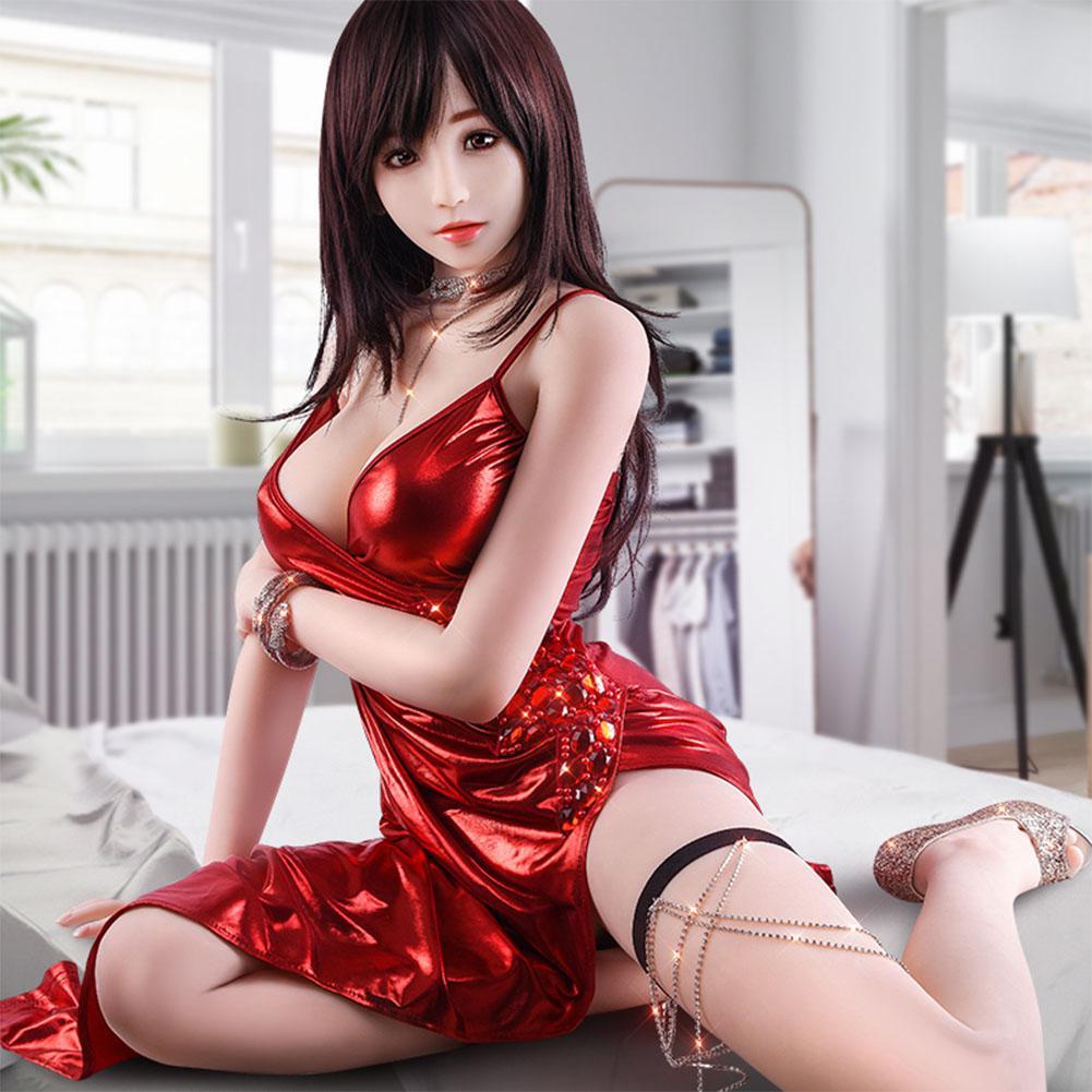 Poupée de sexe Réel Silicone Amour Poupées Réaliste Seins Vagin Anal En Métal Squelette Non Gonflable Poupée de Sexe