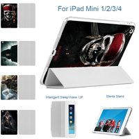 PU Leather Stand Ultra Thin Slim Smart For Mini 1 2 3 4 Retina Printed Pirate