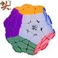DaYan Megaminx Dodecahedron Cubo Mágico con La Esquina Ridges Stickerless Rompecabezas Velocidad Cubos de Juguetes para el cabrito