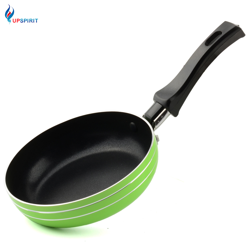 Upspirit Mini Frying Pan Round Shape Aluminum Griddles & Grill Pans Fry Steak Pan Egg Pot Only For Gas Cooker Kitchen Helper