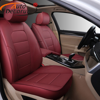 AutoDecorun Custom Cowhide Leather Seat Covers for VW Volkswagen EOS Automobiles Seat Cover Protection Car Accessories 10PCS/Set