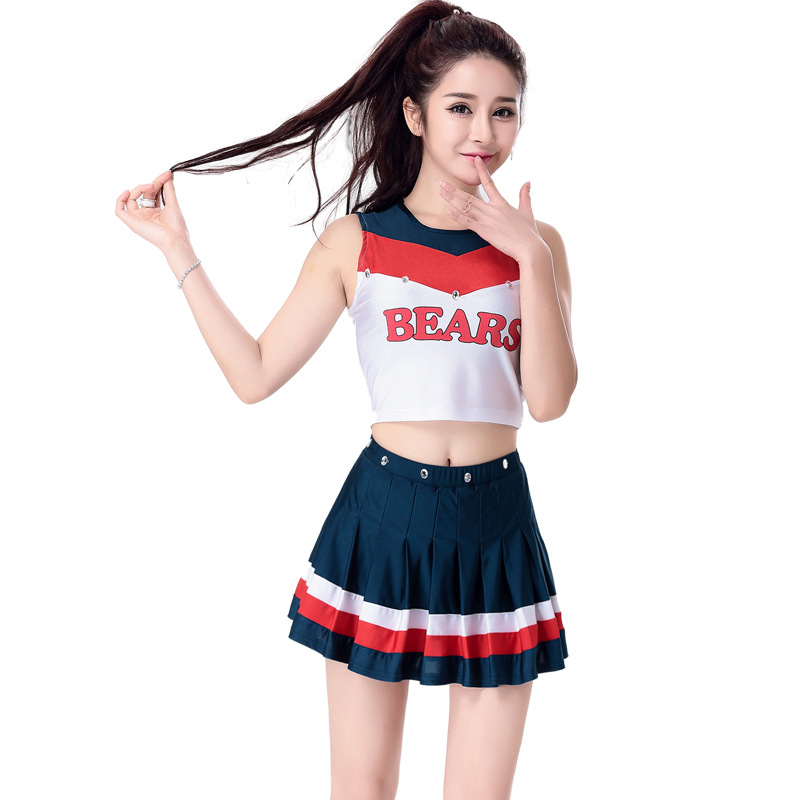 European Cup football baby Cheerleader Dress clothing college fancy dress Costume without pompom