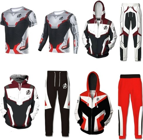 2019 Movie Avengers Endgame Quantum Realm Sweatshirt Jacket Advanced Tech Hoodie Cosplay Costumes superhero Iron Man Hoodies