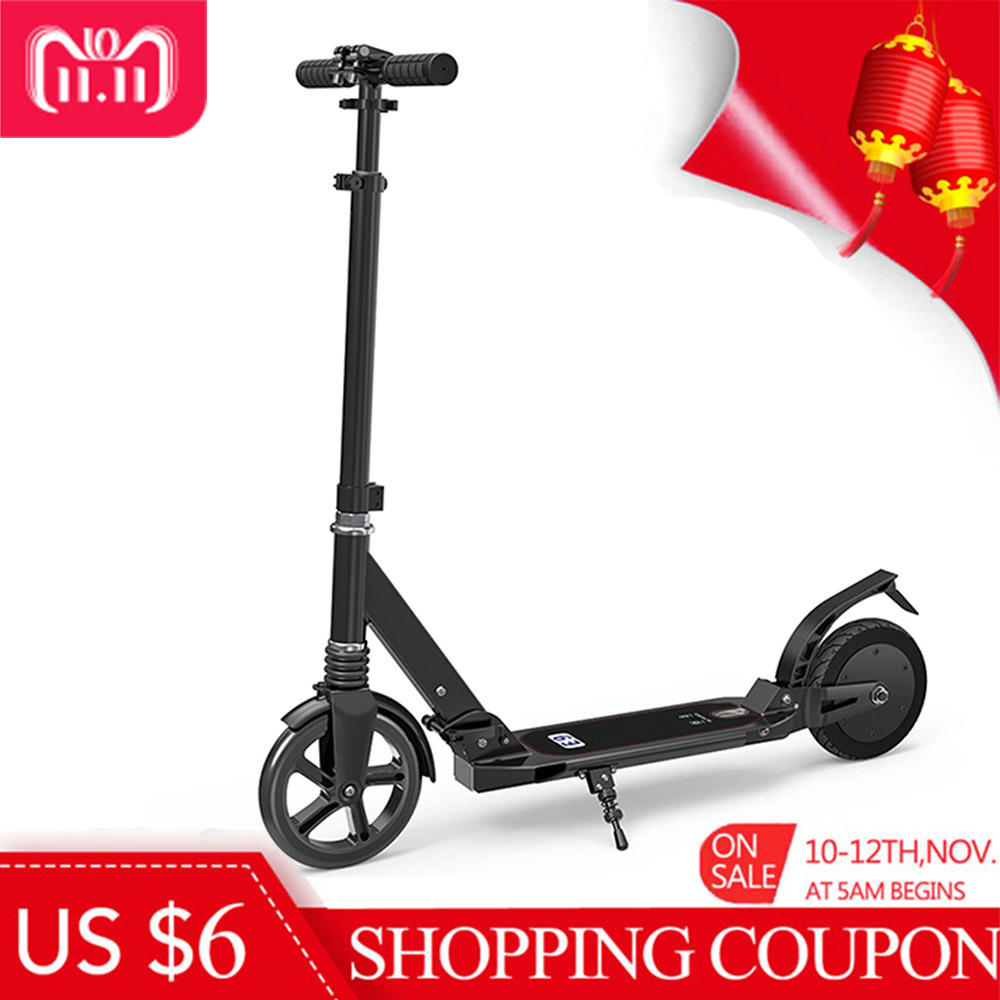 NO TAX 2018 New 2600mAh Folding Electric Scooter with Dual 8 Inch Tire 2 Wheel Ultralight Foldable Electric Kick Scooter EU Plug g force g1 250w 5 inch foldable electric scooter with maple deck only 7 8kg