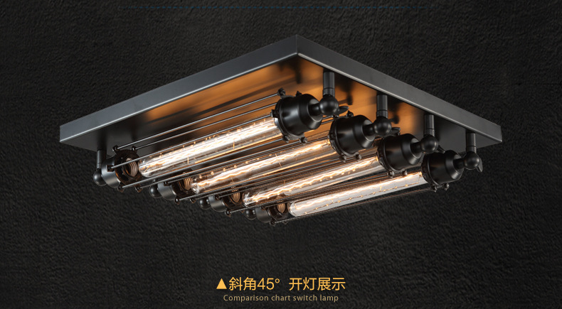 Plafoniere Soffitto Industrial : Aliexpress buy industrial ceiling light edison bulb retro