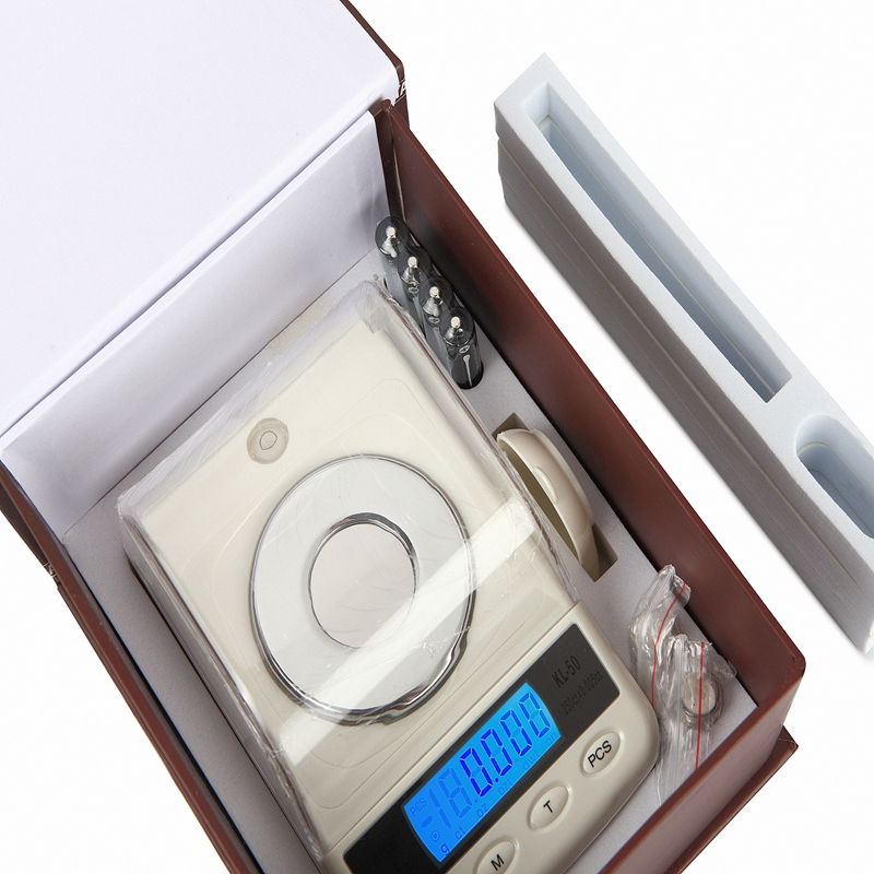 50g 0,001g Cyfrowa waga jubilerska Wysoka precyzja LCD Milligram Gram - Przyrządy pomiarowe - Zdjęcie 5