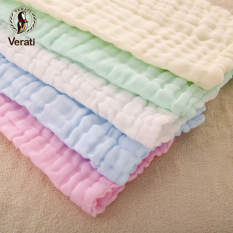 VERATI 3Pc a Bag Cute Face Towel Cotton Absorbent Drying Towel For Bathing Newborns Kids Feeding Handkerchief Child Washclot