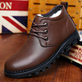 Winter Male Shoe New Pattern Genuine Leather Leather Shoes Increase Down Really Wool Low Help Cotton-padded Shoes