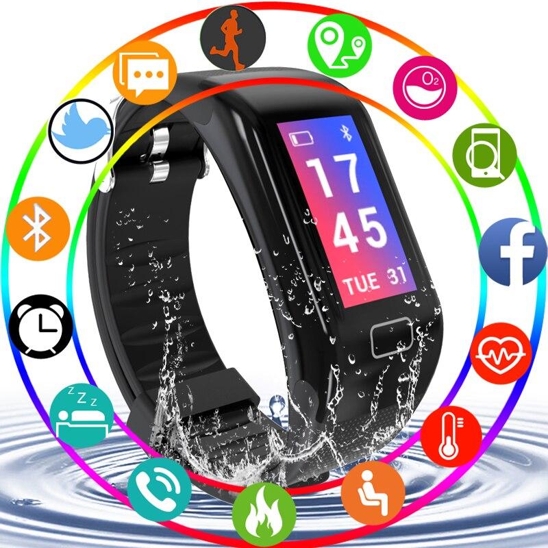 Pulsera inteligente Pulseira Inteligente Tela Colorida Monitor de pressão Arterial e Freqüência Cardíaca pedômetro Pulseira Inteligente Relógio Do Esporte Tempo