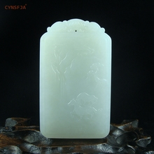 New Arrivals Certified Rare Hetian White Jade Lucky Charms For Men Horse Pendant Sugar Hand Carved High Quality