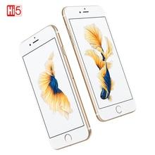Смартфон Apple iPhone 6S, разблокированный, двухъядерный, 16 ГБ/64 Гб/128 Гб ПЗУ, экран 4,7 дюйма, 12 МП, 4K видео, iOS LTE, сканер отпечатка пальца