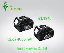 Sreen New 4000mAh Replacement Rechargeable Li-ion Battery for Makita 18V BL1830 Power Tool Battery 194205-3 194230-4 LXT400