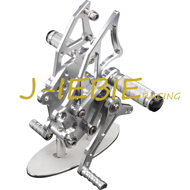 CNC Racing Rearset Adjustable Rear Sets Foot pegs Fit For Kawasaki NINJA EX300 300R 2013 2014 2015 SILVER morais r the hundred foot journey
