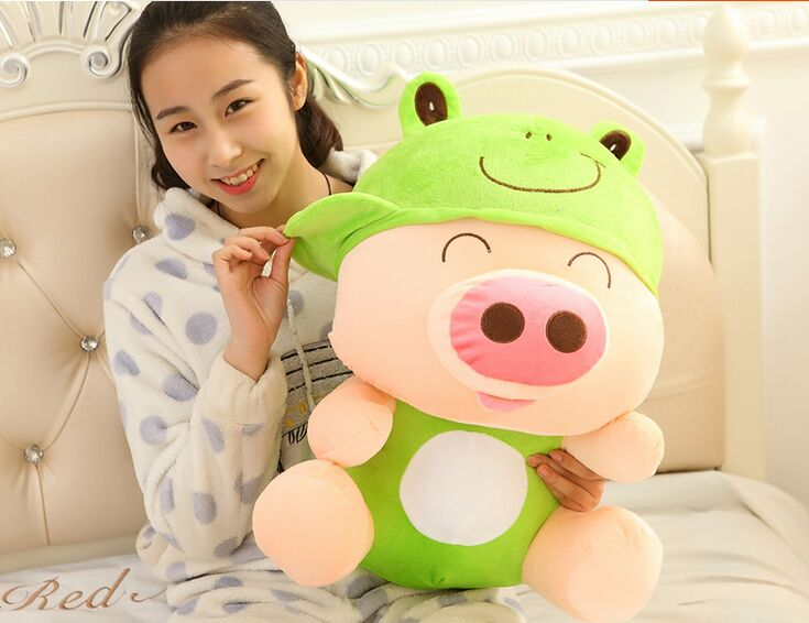 large 70cm frog style Mcdull pig font b plush b font toy soft throw pillow toy