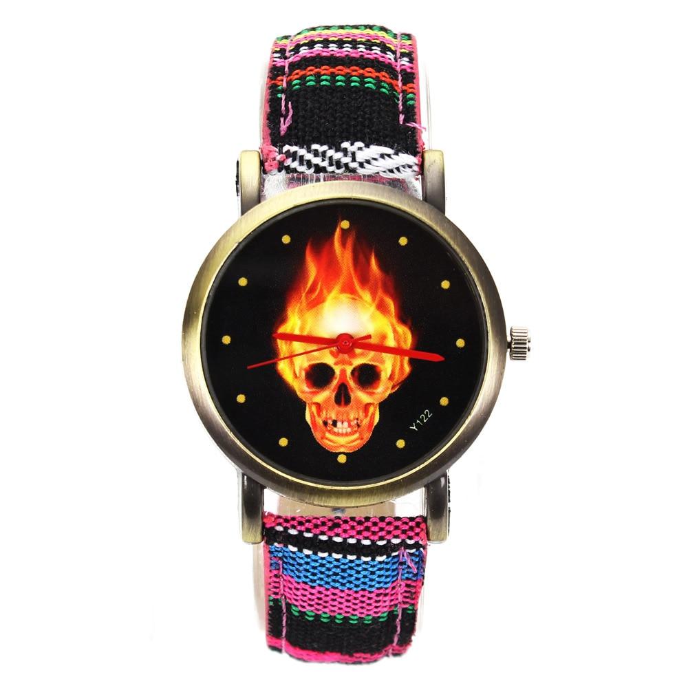 Tűz forró sötét égő koponya csontváz dial órák nők férfiak - Férfi órák - Fénykép 4