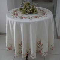 Деревенский модная ткань с вышивкой обеденный катерть для стола коврик круглый катерть для стола ткань Узорчатая скатерть Красочные розы