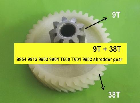 Apply To 9954 9912 9953 9904 T600 T601 9952 Paper Shredder Gear,accessories Gear 9T + 38T