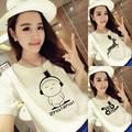 The new summer white short sleeved T-shirt girl summer clothes dress simple Korean loose half sleeve T-shirt tide female t