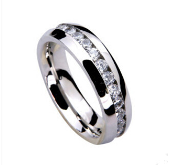 Hot Ring Gifts Jewelry Womens 316L Stainless Steel Rings Eternity Ring Accessories for Wedding & Events E-shine Jewelry T2607