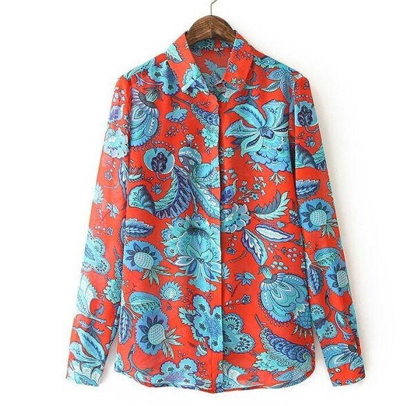Womens Floral Blouse Photo Album - Fashion Trends and Models