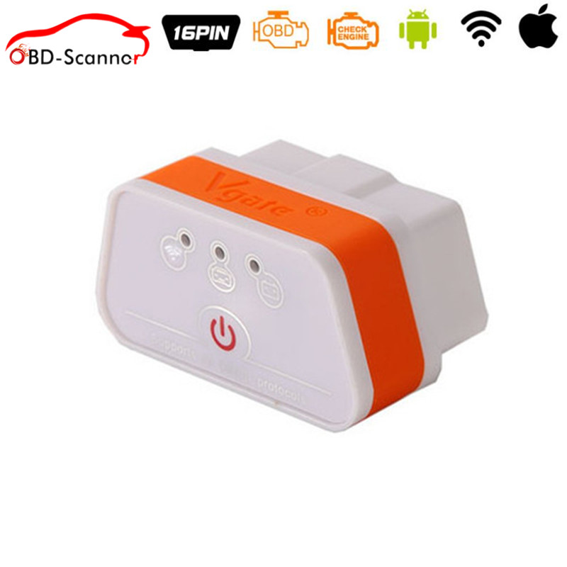 Prix pour Vgate wifi icar 2 obdii elm327 icar2 wifi vgate obd interface de diagnostic pour ios iphone ipad android 6 couleurs en option
