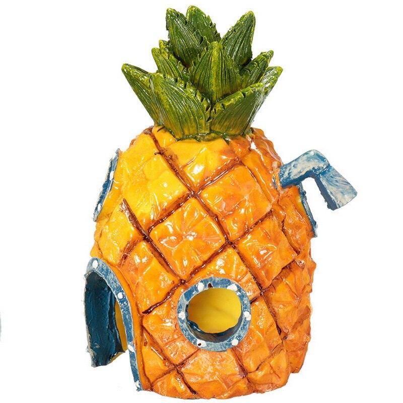 Fish Tank Aquarium Decor For SpongeBob & Squidward House Pineapple Cartoon House Home Ornaments Aquarium Accessories 1