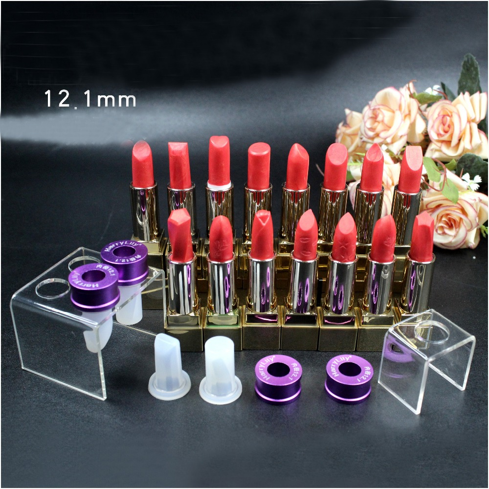 Silicone lipstick mould for DIY filling 12.1 mm Lip Balm Makeup Crafts Tool -A three-piece sleek makeup губная помада lip v i p lipstick 3 6 гр 9 оттенков губная помада lip v i p lipstick 3 6 гр private booth тон 1002 3 6 гр