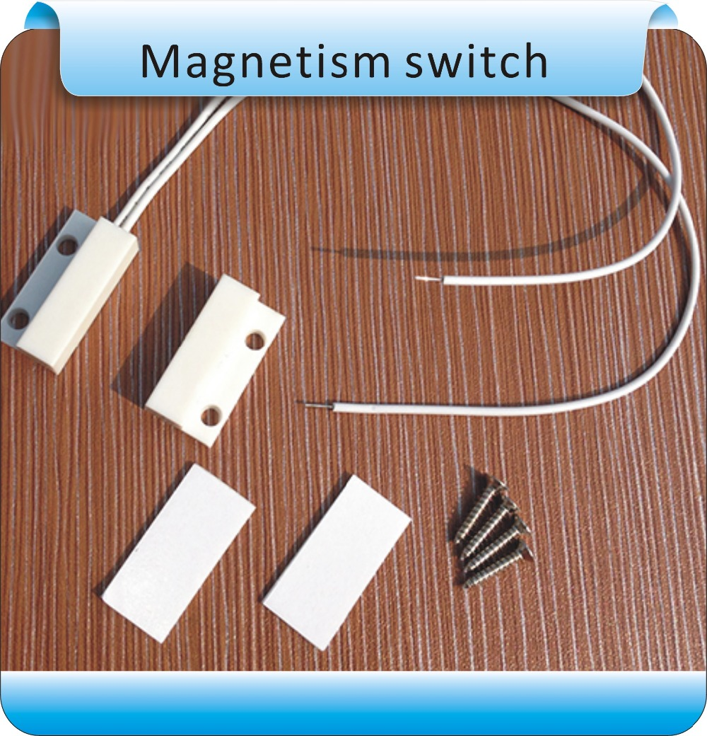 Free Shipping10pcs Mc38 Window Or Door Contact Magnetic Reed Switch Alarm System Closed Nc kopen