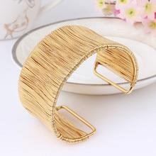 hot deal buy lukeni love wide cuff bracelets & bangles for women alloy open male female big bangles bracelet for men punk gold silver color