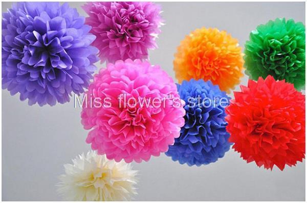 Paper Flower Balls For Wedding Lot 6 Inch 15CM Tissue Paper Pom Poms Paper Flower Balls For Wedding