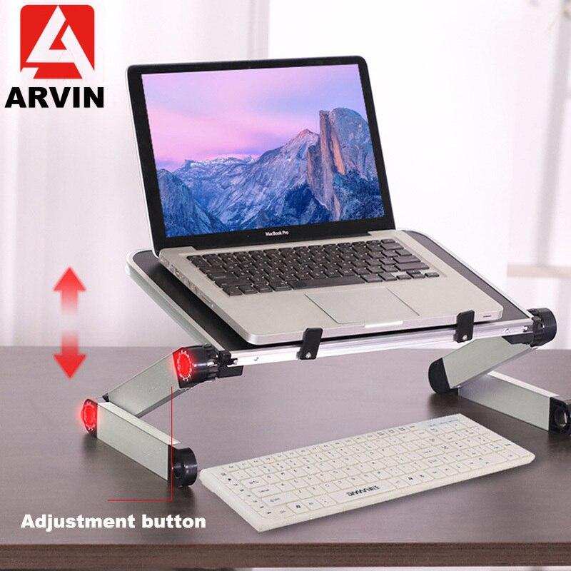Arvin Ergonomic Laptop Holder 360 Adjustable Portable Folding Desk Bed Laptop Stand For Macbook Pro 11-17 Inch Notebook Lapdesk
