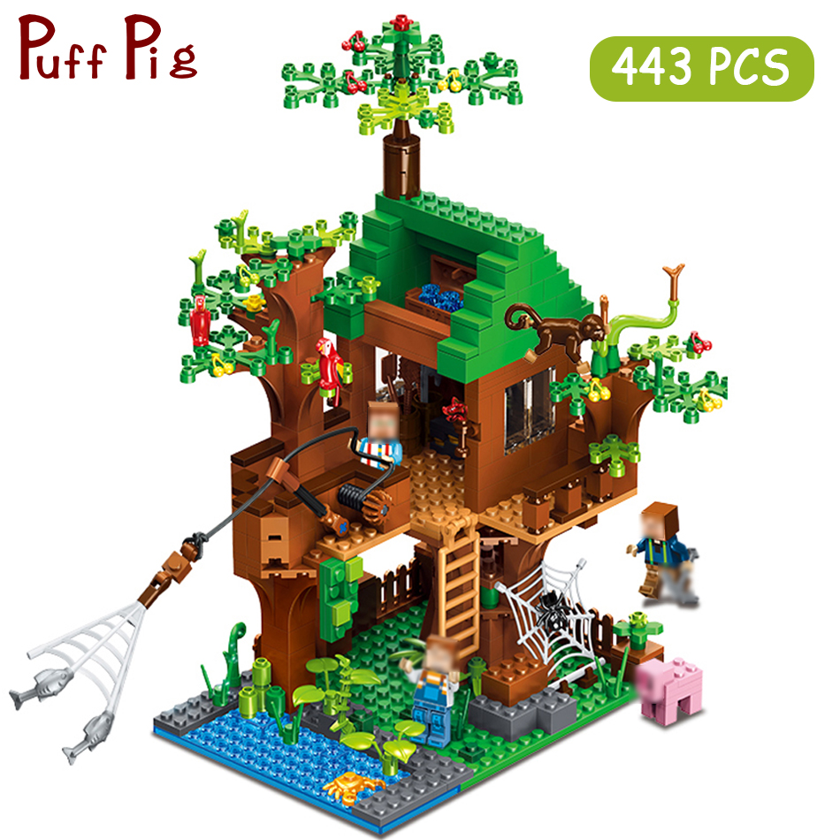Minecrafted Classic Tree House My world Compatible Legoed City Figures Building Blocks Bricks Toys For Children Christmas 1