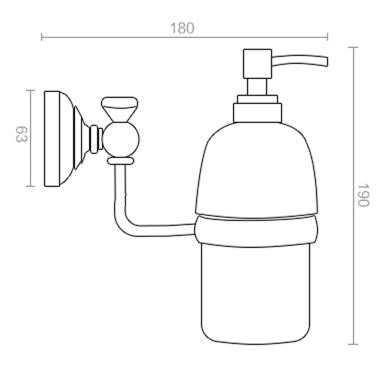 Купить с кэшбэком Leyden Luxury Wall Mounted Liquid Soap Dispenser with Antique Brass Finish Shampoo Liquid Soap Dispenser Bathroom Accessories