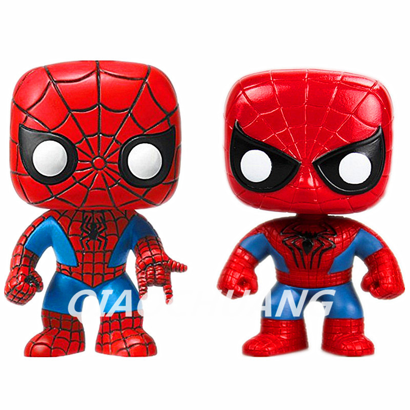 FUNKO POP Marvel The Amazing Spider-man #45 Spiderman #03 Bobble Head Vinyl Action Figure Collectible Model Toy RETAIL BOX W42  funko pop marvel the hulk no 08 red hulk no 31 iron man vinly bobble head pvc action figure collectible model toy gift for kids