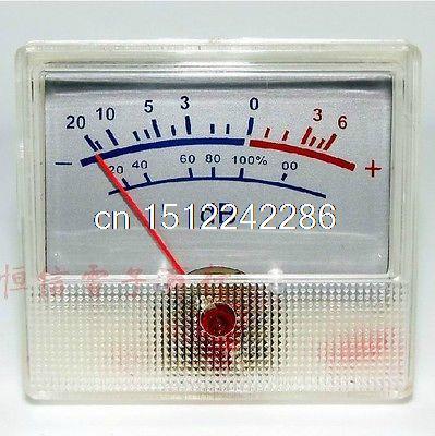 Clear Plastic Shell dB VU Meter 500uA 700 Ohm -20-+6dB For Audio Recorder