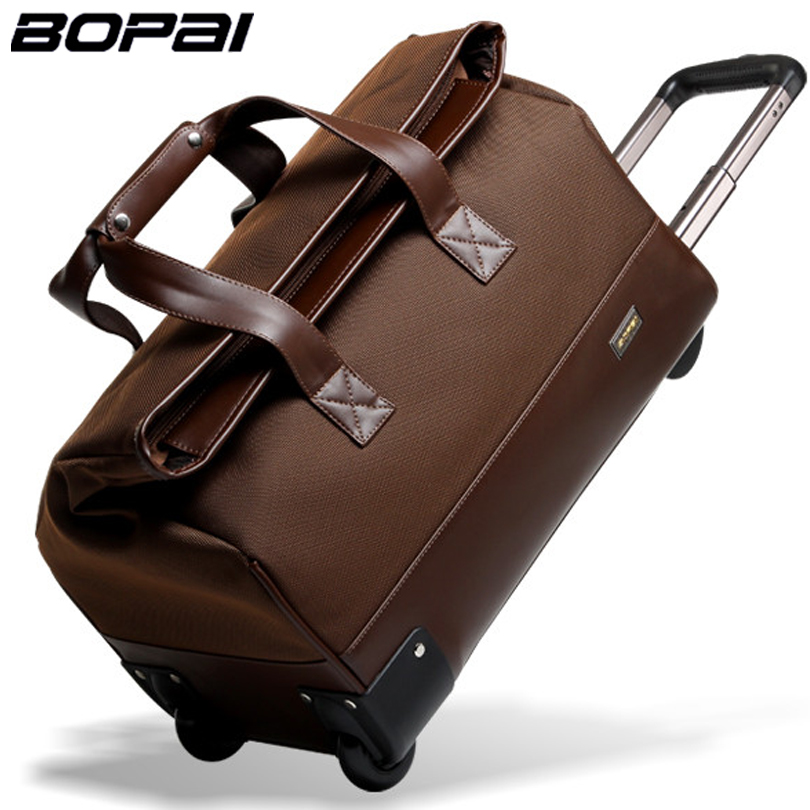 b07b23a2e959 BOPAI 2016 Men Travel Bags 20 Inch Large Capacity Women Trolley Bags Travel  Duffle Bag Waterproof Rolling Luggage Carry On Bag